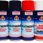 SPRAY CAN WEATHERFAST GLOSS BLACK 300gm