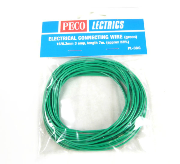 PECO PL38G GREEN 3AMP WIRE 7.5M 16ST