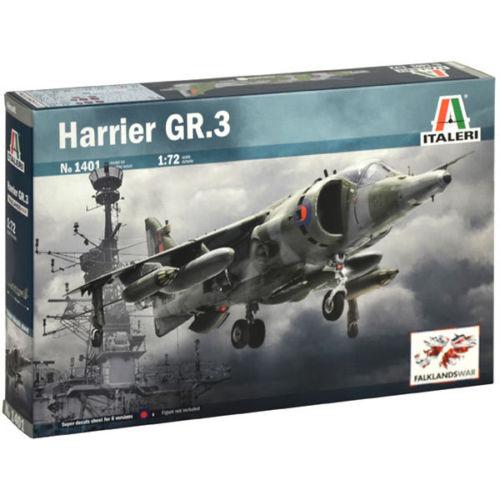 1/72 HARRIER GR.3 KIT ITALERI Plastic Model Kit (1401)