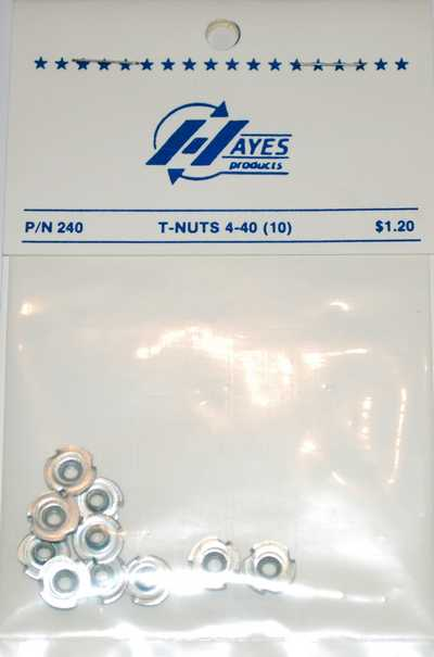 HAYES T NUTS 4-40