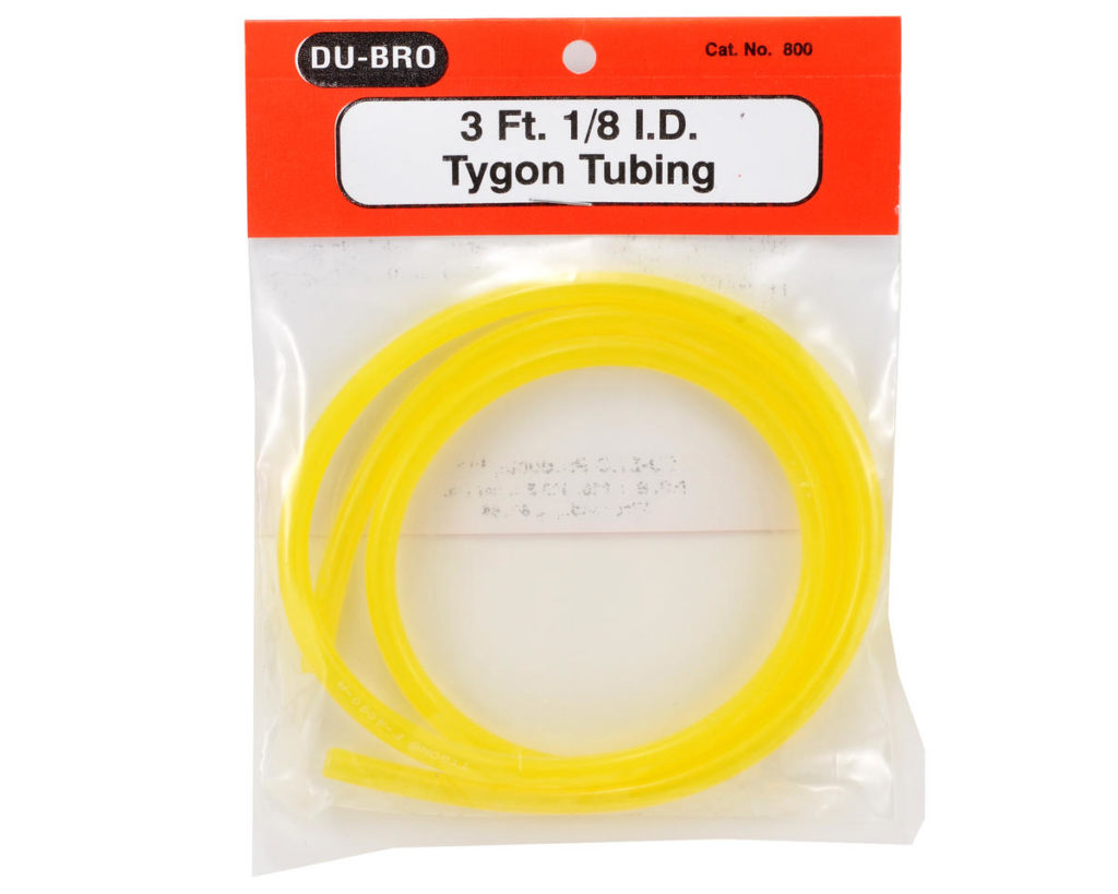 DUBRO TYGON GAS TUBE 5/32 I.D. 3FT DB554