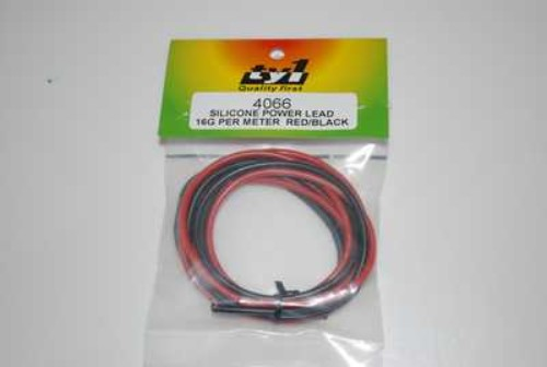 TY1 SILICONE BATT WIRE16G RED/BLACK 1METER TY4066