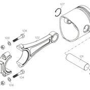 S3005S (YS ENGINE PART) PISTON/RING/LINER SET 120SR