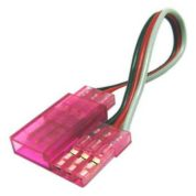 TY1 SERVO EXTENSION LEAD 600MM PINK TY405460P 60 STRAND GOLD PIN