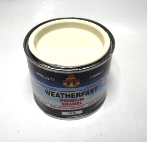 WEATHERFAST OPAL WHITE PREMIUM MARINE 100ML ULTRA HIGH GLOSS ENAMEL