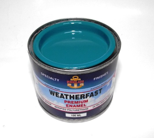 WEATHERFAST TEAL PREMIUM MARINE 100ML ULTRA HIGH GLOSS ENAMEL