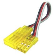 TY1 SERVO EXTENSION LEAD 100MM YELLOW TY405410Y 60 STRAND GOLD PIN