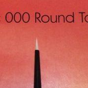 DELTA PAINT BRUSH ROUND 000