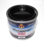 WEATHERFAST BLACK PREMIUM MARINE 100ML ULTRA HIGH GLOSS ENAMEL