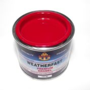 WEATHERFAST FLEET RED PREMIUM MARINE 100ML ULTRA HIGH GLOSS ENAMEL