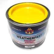 WEATHERFAST MARKER YELLOW PREMIUM MARINE 100ML ULTRA HIGH GLOSS ENAMEL