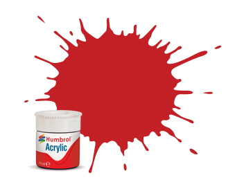 220 HUMBROL ACRYLIC PAINT   FERRARI RED GLOSS 14ml