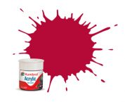 RC423 HUMBROL ACRYLIC PAINT   CARMINE MATT RC RAIL COLOUR 14ml