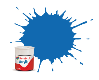 52 HUMBROL ACRYLIC PAINT   BALTIC BLUE METALLIC 14ml
