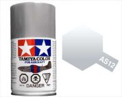 TAMIYA AS12 BARE METAL SILVER ACRYLIC SPRAY PAINT 100ml (Aircraft)