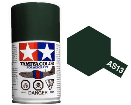 TAMIYA AS13 GREEN ACRYLIC SPRAY PAINT 100ml (Aircraft)