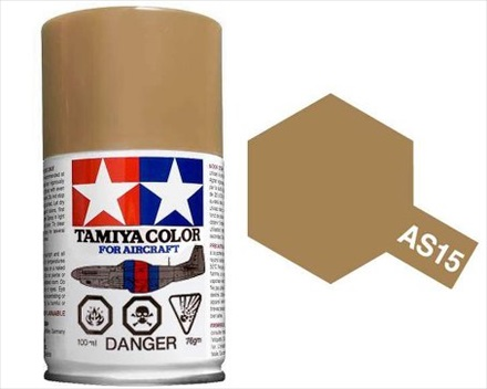 TAMIYA AS15 TAN ACRYLIC SPRAY PAINT 100ml (Aircraft)