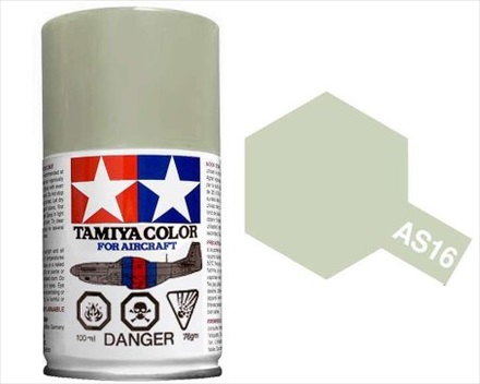 TAMIYA AS16 LIGHT GRAY ACRYLIC SPRAY PAINT 100ml (Aircraft)