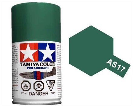 TAMIYA AS17 DARK GREEN IJA ACRYLIC SPRAY PAINT 100ml (Aircraft)