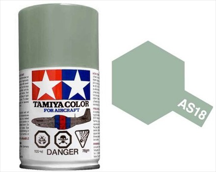 TAMIYA AS18 LIGHT GRAY IJA ACRYLIC SPRAY PAINT 100ml (Aircraft)