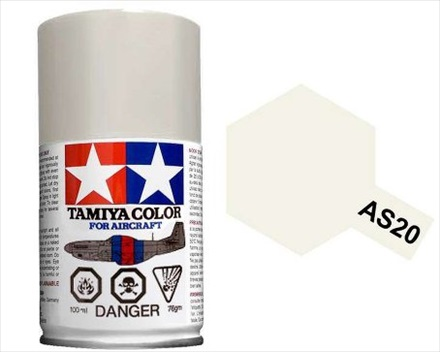 TAMIYA AS20 INSIG WHITE USNAV ACRYLIC SPRAY PAINT 100ml (Aircraft)