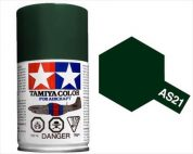 TAMIYA AS21 DARK GREEN 2 IJN ACRYLIC SPRAY PAINT 100ml (Aircraft)