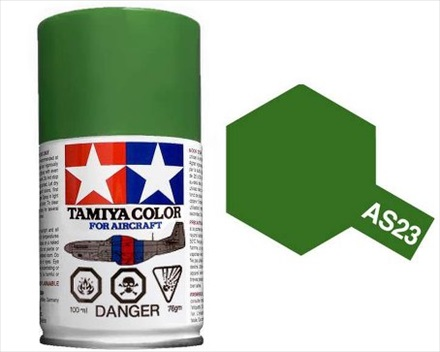 TAMIYA AS23 LIGHT GREEN ACRYLIC SPRAY PAINT 100ml (Aircraft)