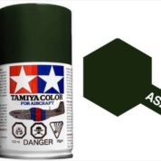TAMIYA AS24 DARK GREEN ACRYLIC SPRAY PAINT 100ml (Aircraft)