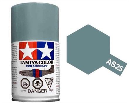 TAMIYA AS25 DARK GHOST GREY ACRYLIC SPRAY PAINT 100ml (Aircraft)