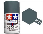 TAMIYA AS27 GUNSHIP GRAY 2 ACRYLIC SPRAY PAINT 100ml (Aircraft)