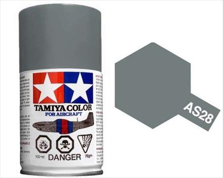 TAMIYA AS28 MEDIUM GRAY ACRYLIC SPRAY PAINT 100ml (Aircraft)