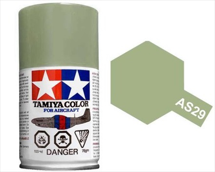 TAMIYA AS29 GRAY GREEN IJN ACRYLIC SPRAY PAINT 100ml (Aircraft)