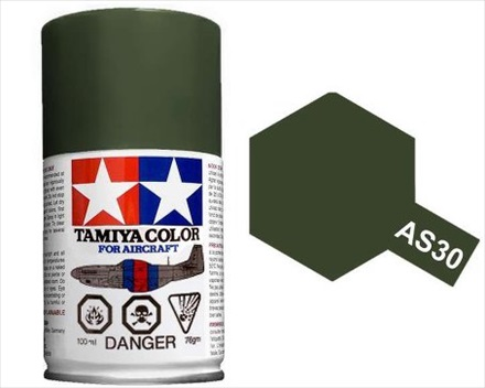 TAMIYA AS30 DARK GREEN 2 RAF ACRYLIC SPRAY PAINT 100ml (Aircraft)