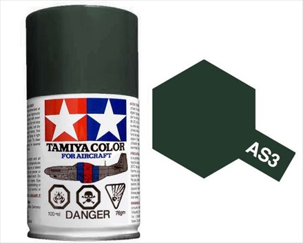 TAMIYA AS3 GRAY GREEN ACRYLIC SPRAY PAINT 100ml (Aircraft)