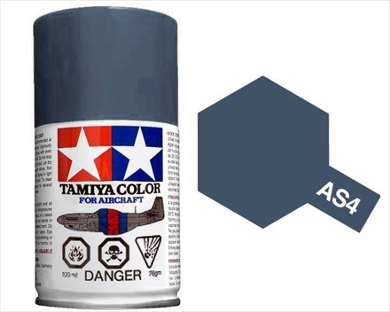 TAMIYA AS4 GRAY VIOLET ACRYLIC SPRAY PAINT 100ml (Aircraft)