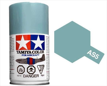 TAMIYA AS5 LIGHT BLUE ACRYLIC SPRAY PAINT 100ml (Aircraft)