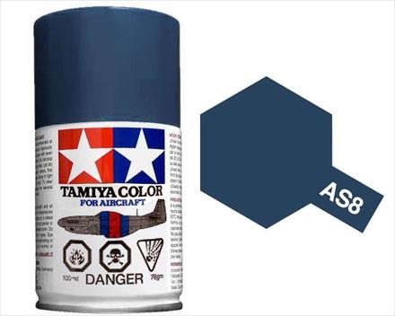 TAMIYA AS8 NAVY BLUE ACRYLIC SPRAY PAINT 100ml (Aircraft)