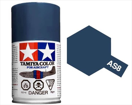 TAMIYA AS8 NAVY BLUE ACRYLIC SPRAY PAINT 100ml (Aircraft)