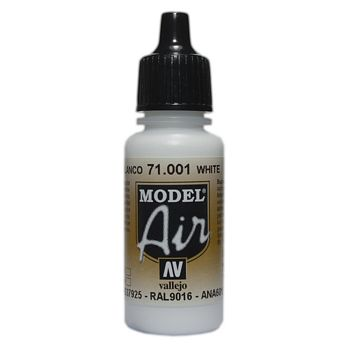 VALLEJO MODEL AIR ACRYLIC PAINT WHITE 71001