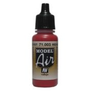 VALLEJO MODEL AIR ACRYLIC PAINT SCARLET RED 71003