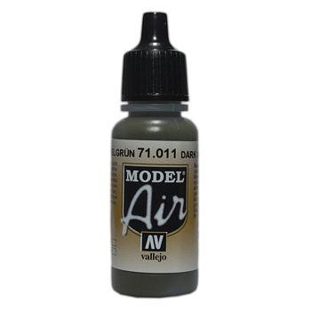 VALLEJO MODEL AIR ACRYLIC PAINT TANK GREEN 71011