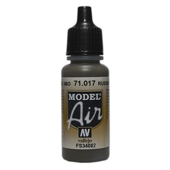 VALLEJO MODEL AIR ACRYLIC PAINT RUSSIAN GREEN 71017