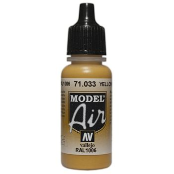 VALLEJO MODEL AIR ACRYLIC PAINT OCHRE 71033
