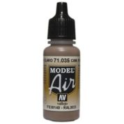 VALLEJO MODEL AIR ACRYLIC PAINT CAMO L/BROWN 71035