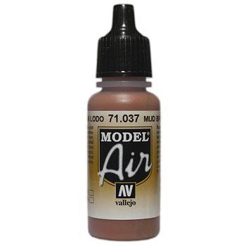 VALLEJO MODEL AIR ACRYLIC PAINT MUD BROWN 71037