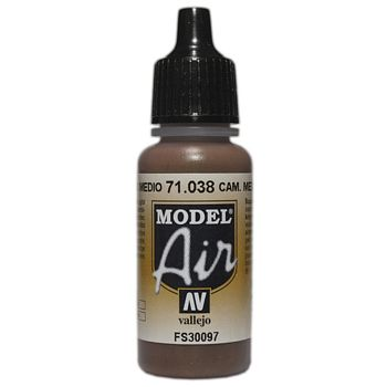 VALLEJO MODEL AIR ACRYLIC PAINT CAMO MED BROWN 71038