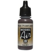 VALLEJO MODEL AIR ACRYLIC PAINT TANK BROWN 71041