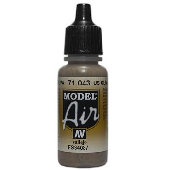 VALLEJO MODEL AIR ACRYLIC PAINT OLIVE DRAB 71043