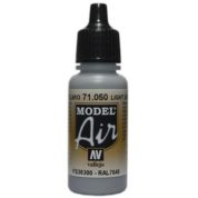 VALLEJO MODEL AIR ACRYLIC PAINT LIGHT GREY 71050