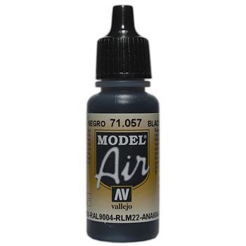 VALLEJO MODEL AIR ACRYLIC PAINT BLACK 71057